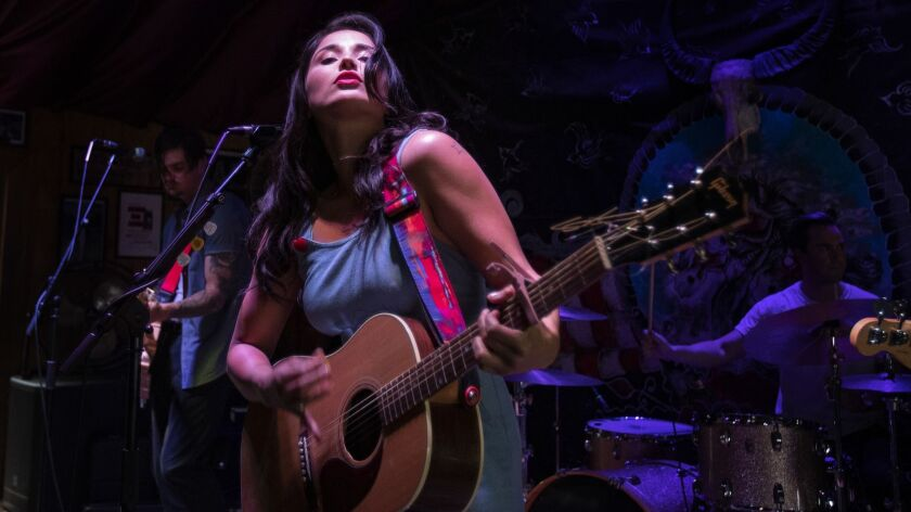 PIONEERTOWN, CA - APRIL 5, 2019: Country singer and songwriter performs at Poppy & Harriet's on Apr