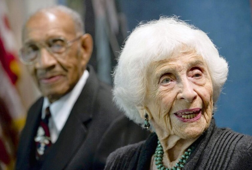 Hedda Bolgar receives an outstanding Oldest Worker Award at a ceremony in Washington, D.C. In her speech, she talked about how there's dignity and purpose in work, and grace in aging.