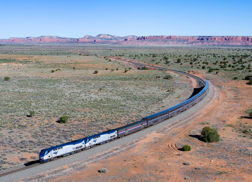 Amtrak's Southwest Chief chugs through New Mexico on the L.A.-Chicago route.