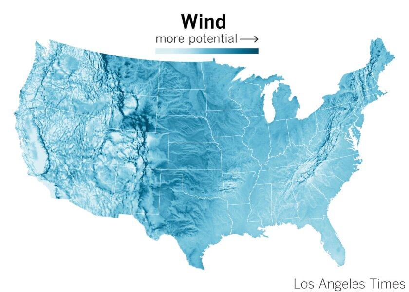 Wind potential in the United states