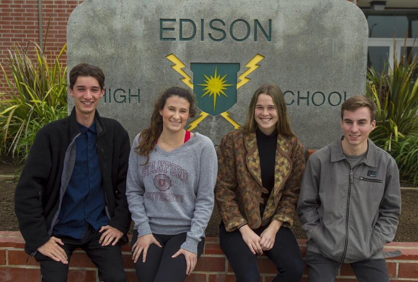 Edison High students