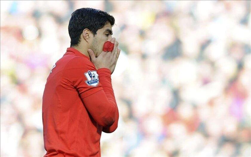 El delantero uruguayo del Liverpool Luis Suárez. EFE/Archivo