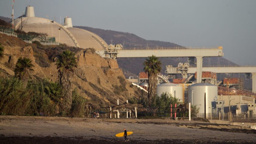 FILE - This Sept. 13,2012 file photo shows the San Onofre nuclear power plant along the Pacific Ocea