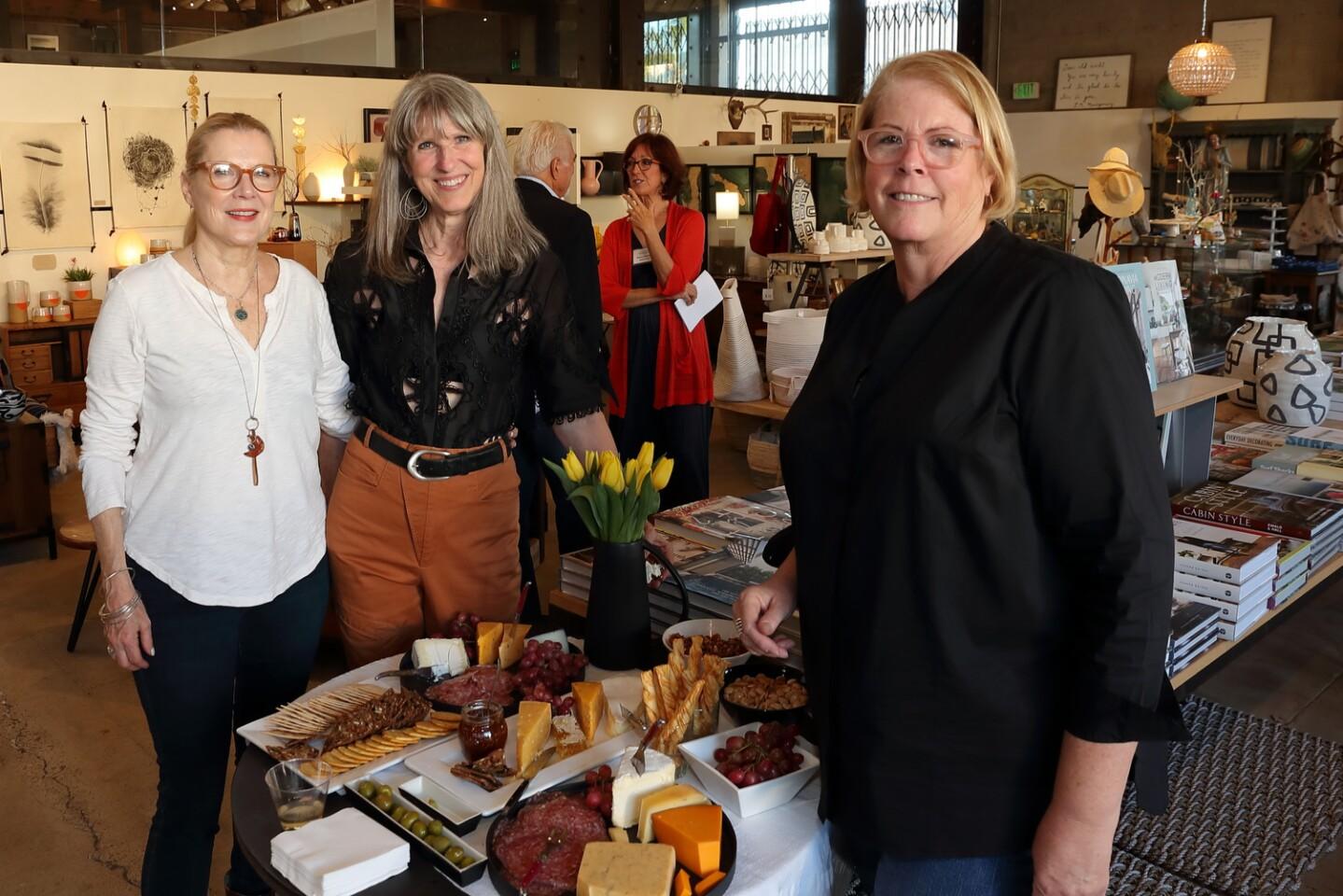 Carole Carden (owner, SoLo), Sooz Noll, Lori Graham