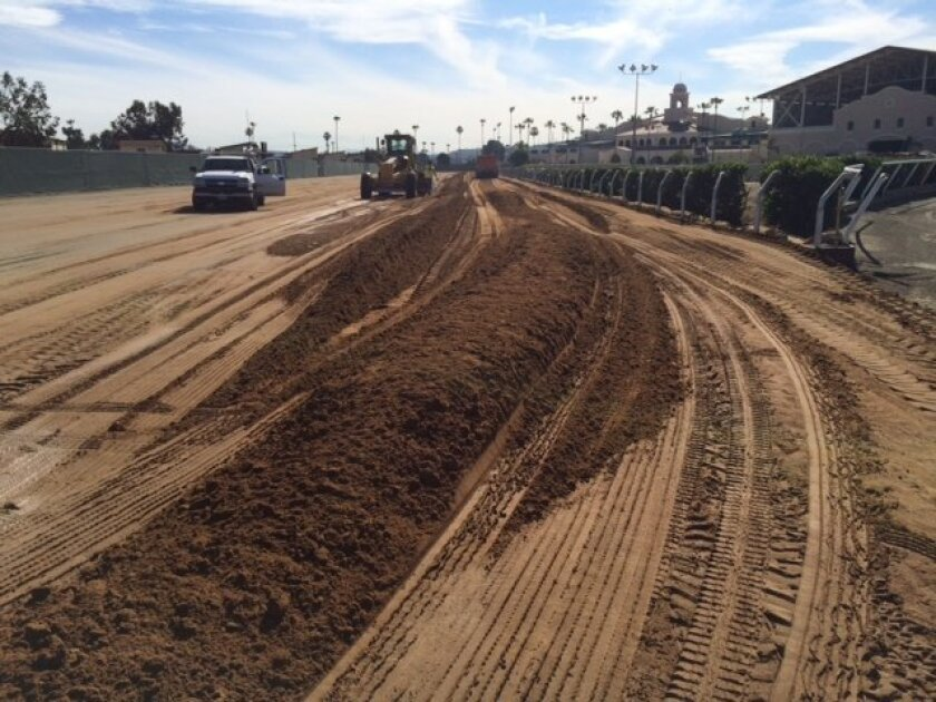 Del Mar's old Polytrack has been ripped out and is getting replaced with El Segundo sand.