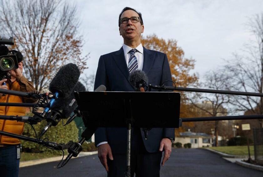 House Democrats have been working with Treasury Secretary Steven T. Mnuchin over an economic stimulus bill.