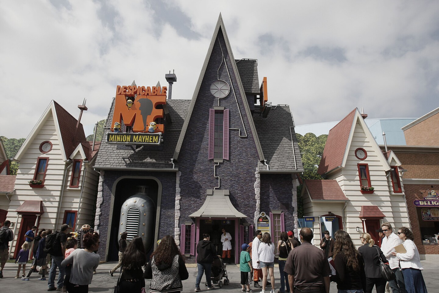 The new attraction Despicable Me Minion Mayhem at Universal Studios Hollywood.