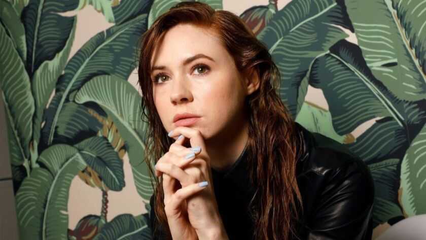 """It's her """"Party"""": Actress Karen Gillan's directorial debut, the Scotland-set drama """"The Party's Just Beginning,"""" screens at the 2018 Tribeca Film Festival."""