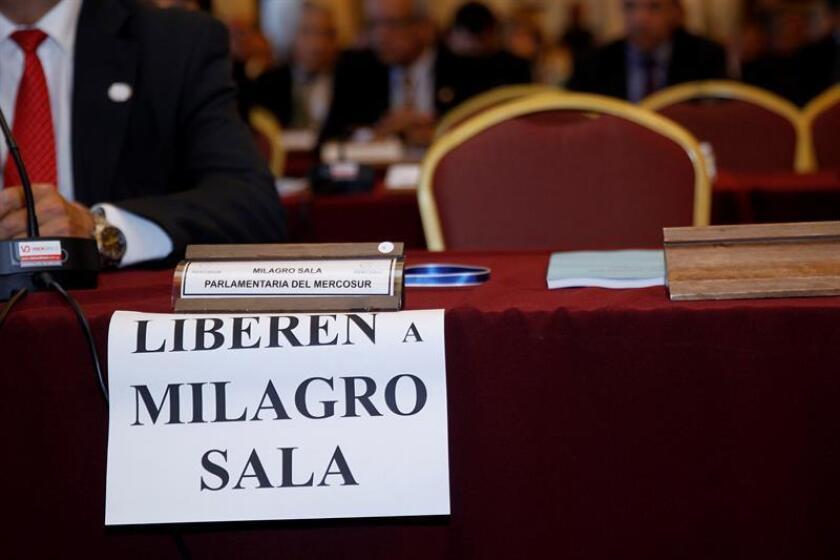 """La Comisión Interamericana de Derechos Humanos (CIDH) urgió hoy a Argentina a dar """"pronta respuesta"""" a la petición para liberar a la diputada argentina del Parlasur Milagro Sala hecha por un grupo de trabajo de Naciones Unidas. EFE/ARCHIVO"""