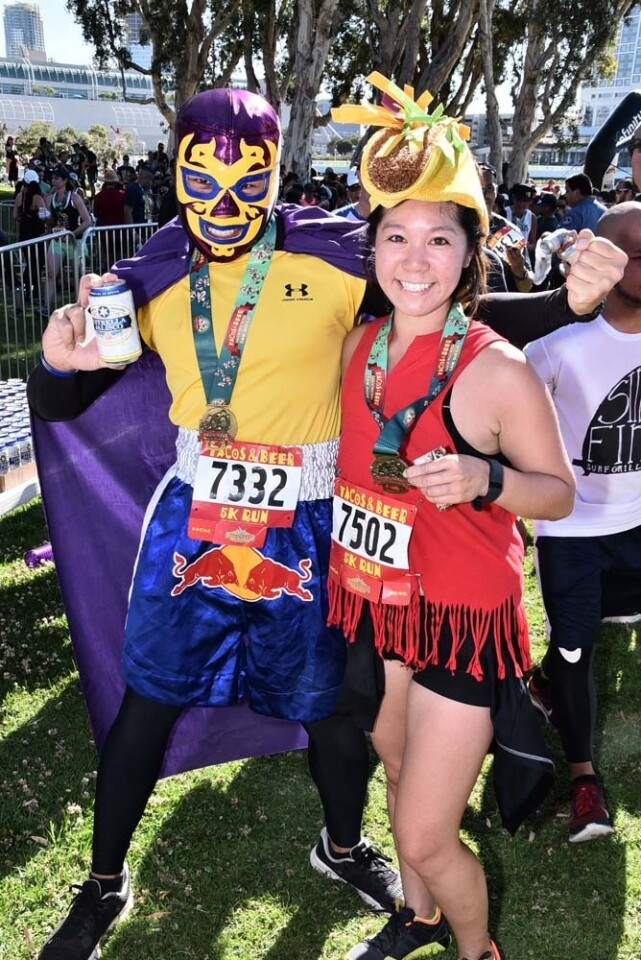 San Diegans combined their deep love of fitness, delicious tacos and craft beer at the annual Tacos and Beer 5K at Embarcadero Marina Park South on Sunday, April 30, 2017.