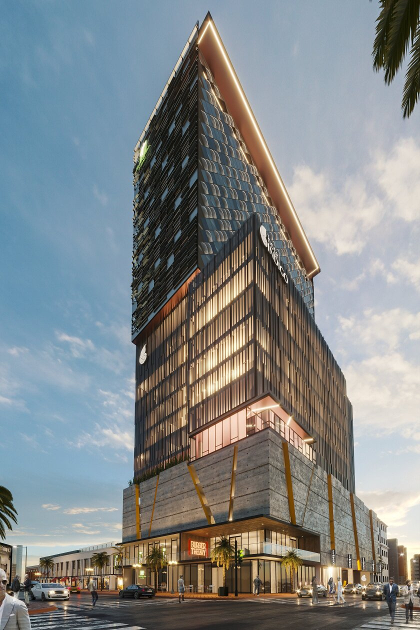 Construction has started on a $40 million Tijuana building in the heart of the city's downtown.