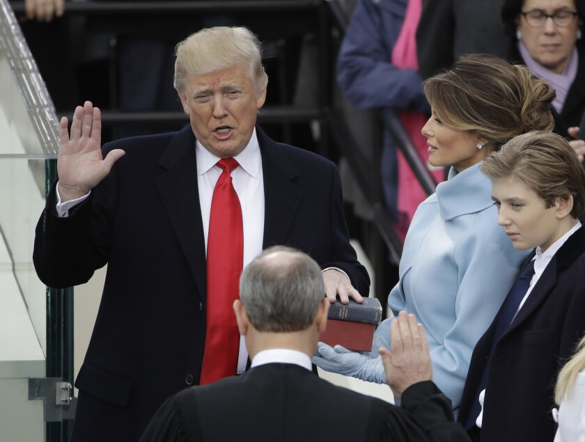 Donald Trump was the first president in U.S. history to take office after the age of 70.