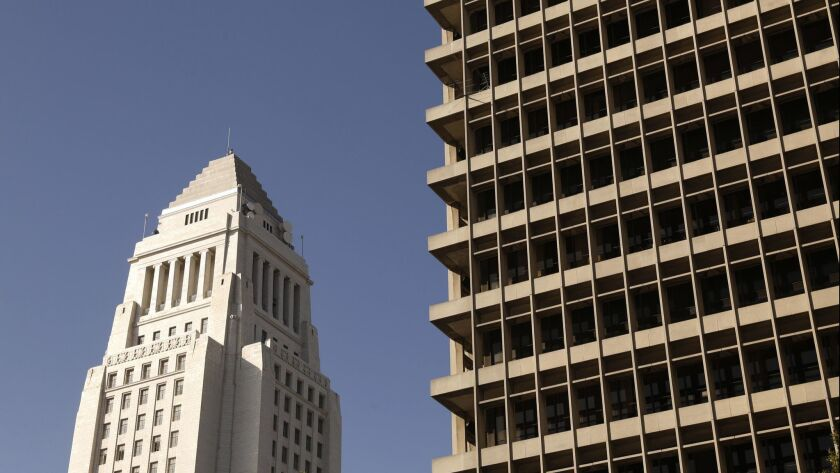 The Clara Shortridge Foltz Criminal Justice Center, the county courthouse located between Broadway and Spring, in downtown Los Angeles on May 18, 2017.