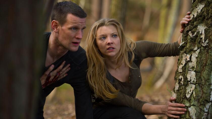 "Matt Smith and Natalie Dormer in the movie ""Patient Zero."""