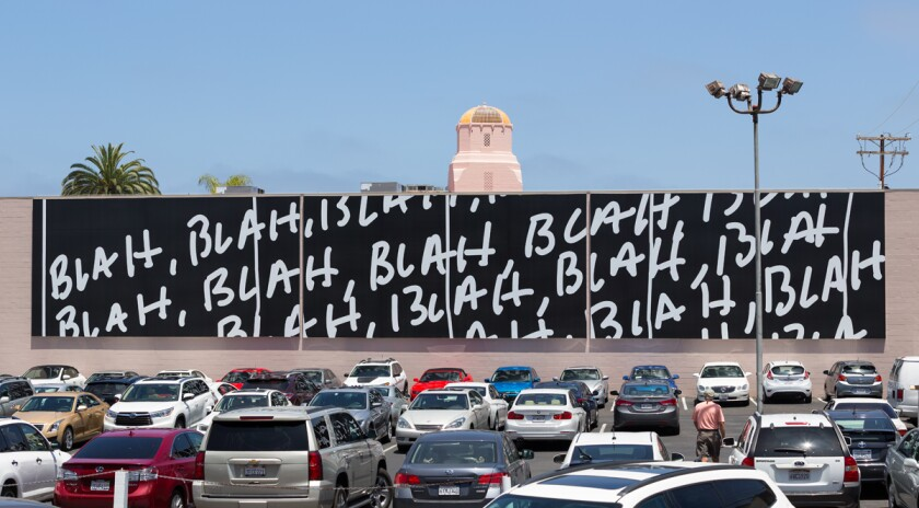 """MURALS OF LA JOLLA: Mel Bochner, """"Blah, Blah, Blah"""" 2015"""