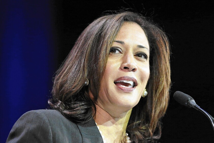 Atty. Gen. Kamala Harris was twice elected San Francisco's district attorney. She is running to replace Sen. Barbara Boxer in 2016.