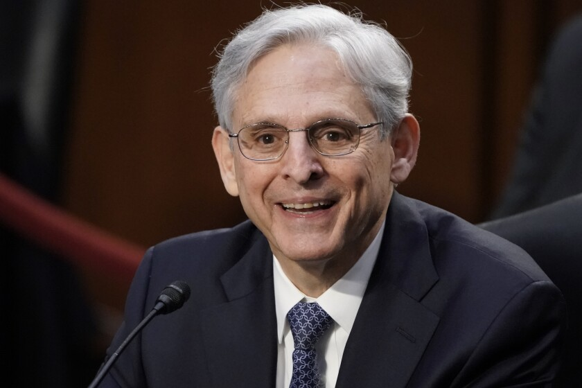 Judge Merrick Garland, President Joe Biden's pick to be attorney general, appeared before the Senate Judiciary Committee