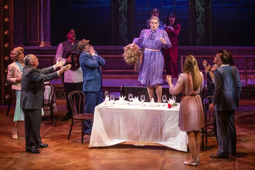 """Cygnet Theatre's production of """"La Cage aux Folles,"""" opening in previews on Friday, Sept. 10."""