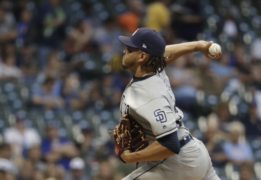The Padres' Dinelson Lamet became the 13th pitcher in major league history to strike out 14 batters in six innings or fewer.
