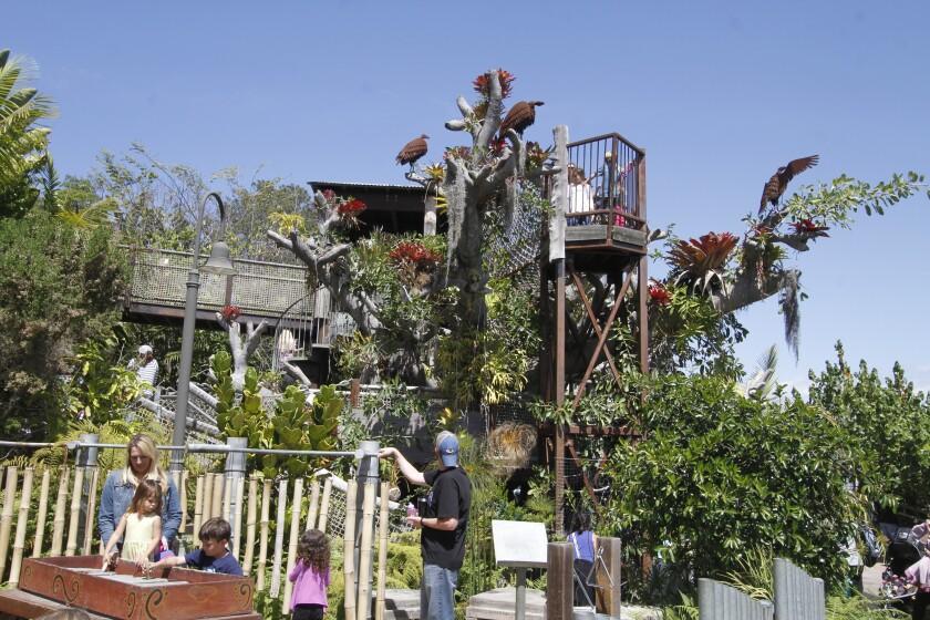 Toni's Tree House in the Hamilton Children's Garden at San Diego Botanic Garden in Encinitas.
