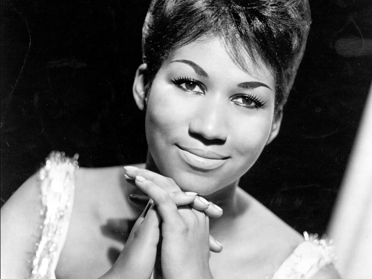 Soul singer Aretha Franklin in a publicity shot circa 1964.