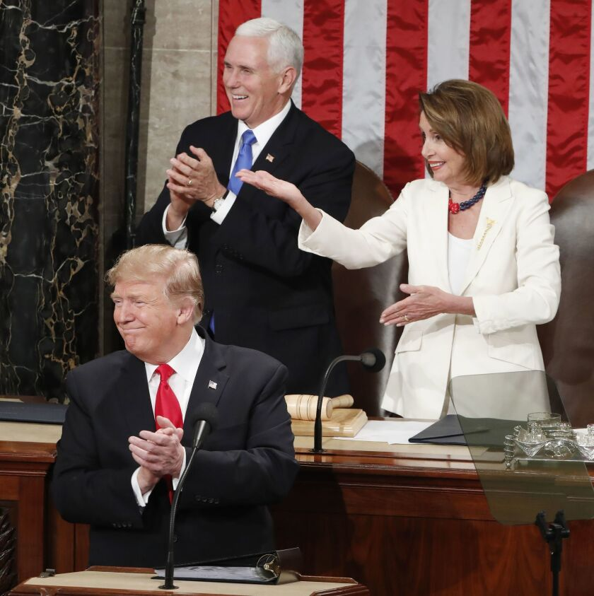 US President Donald J. Trump delivers his second State of the Union address, Washington, USA - 05 Feb 2019