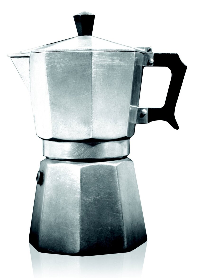 This undated image provided by Bialetti shows an original Moka Express coffeemaker. The Moka Express was invented in 1933 by Alfonso Bialetti and it is in the permanent collections of a number of museums, prized for its simple but unique design and clever engineering. (Bialetti via AP)