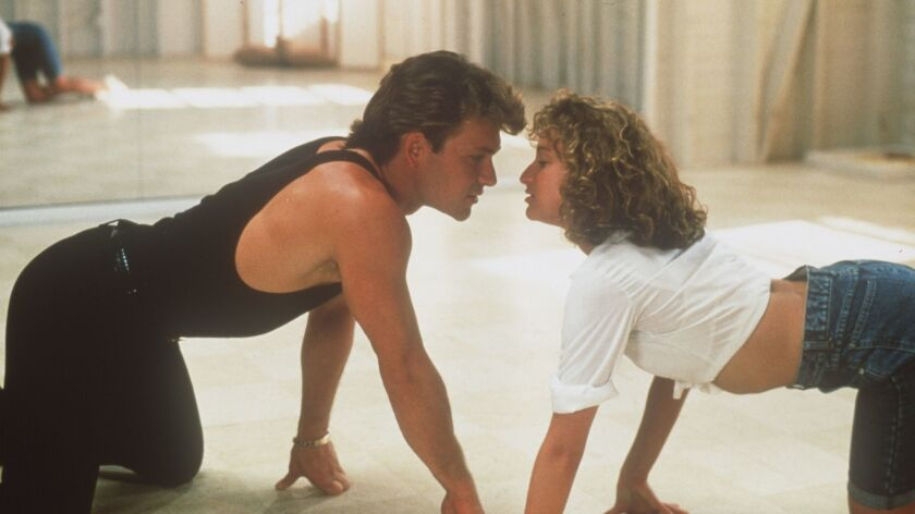 """Patrick Swayze and Jennifer Grey in the movie """"Dirty Dancing."""""""