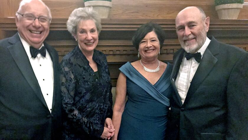 """Ed and Margo Simpson, from left, Francie and Jerry Crichton join the fun of """"Putting on the Ritz"""" di"""