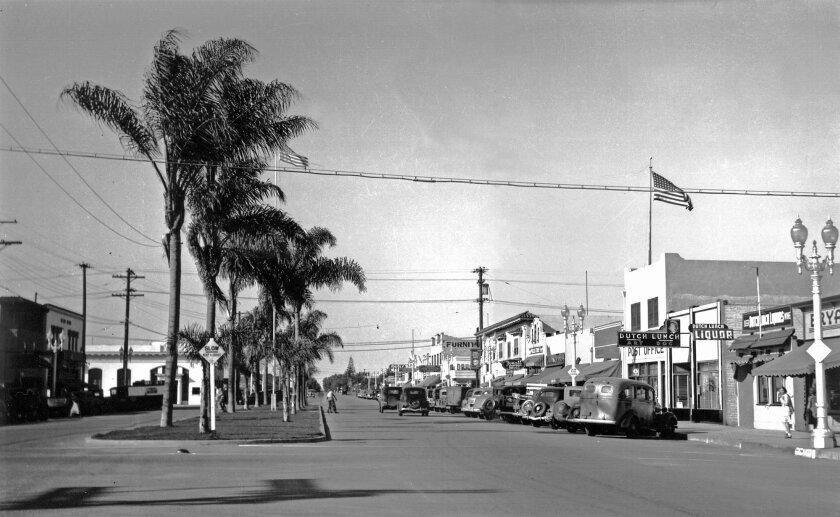 Third Avenue downtown around 1920.