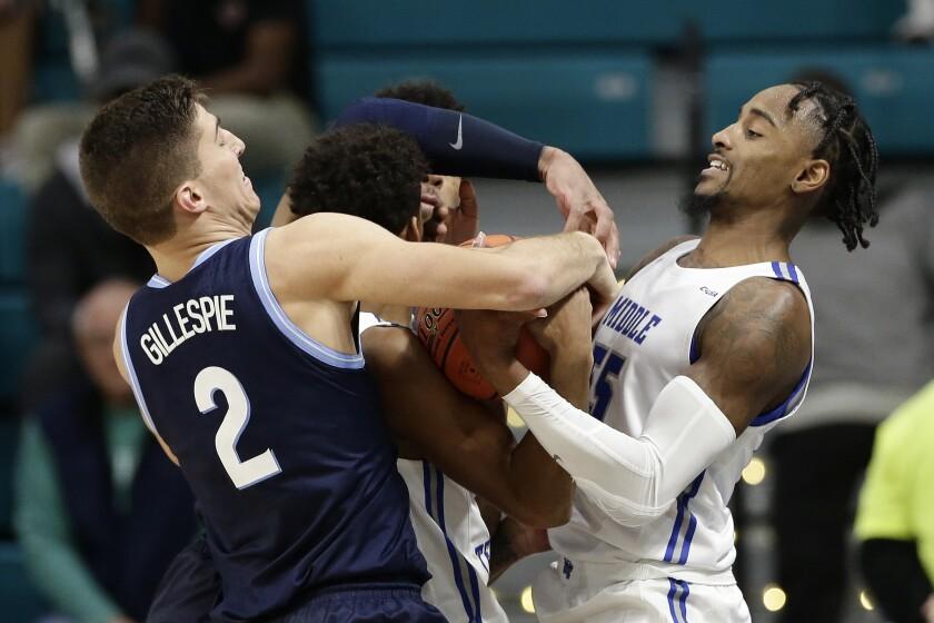 Middle Tennessee State Villanova Basketball