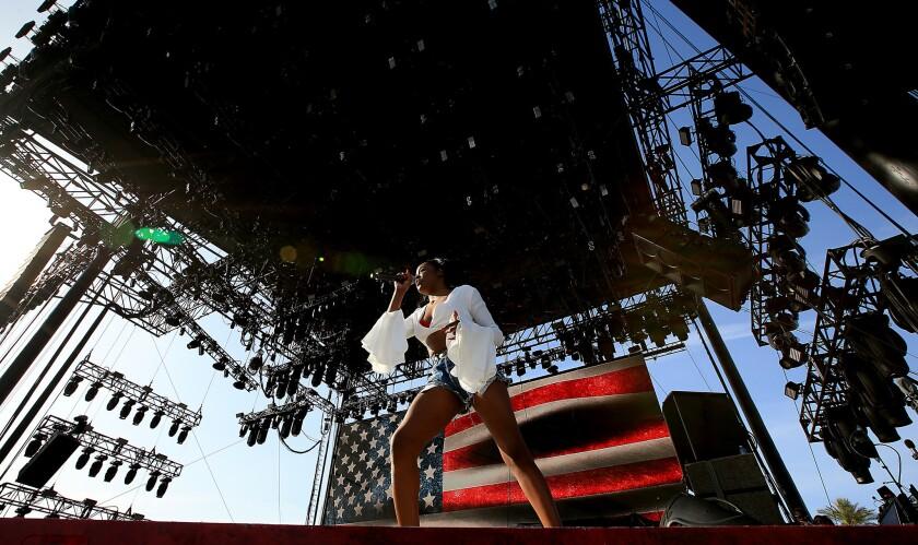 New York rapper Azealia Banks onstage at Coachella on April 10.