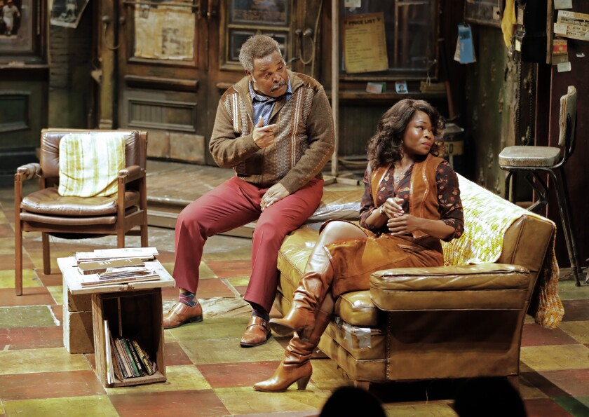 "Ray Anthony Thomas and Nija Okoro in August Wilson's ""Jitney"" at the Mark Taper Forum."
