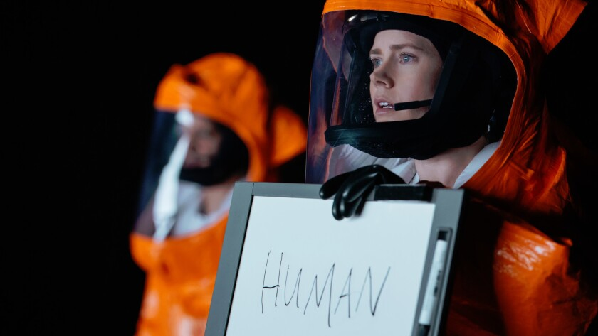 "Amy Adams stars as a linguist trying to communicate with beings from outer space in ""Arrival."""