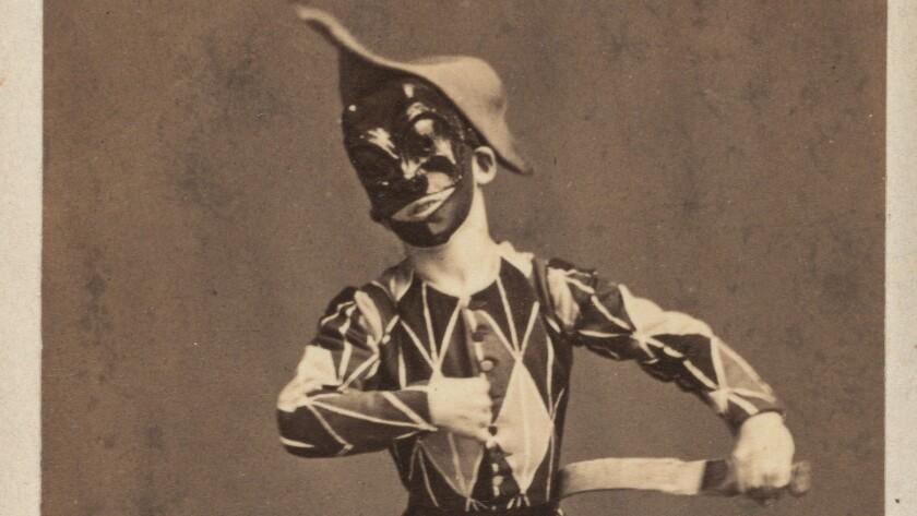 A performer in blackface circa 1850.