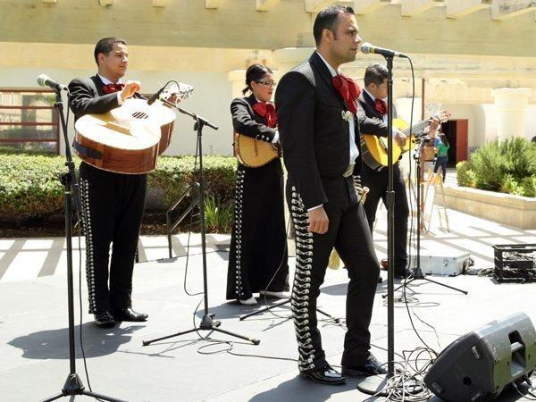 Mariachi Contenental performs at La Colonia Park in Solana Beach