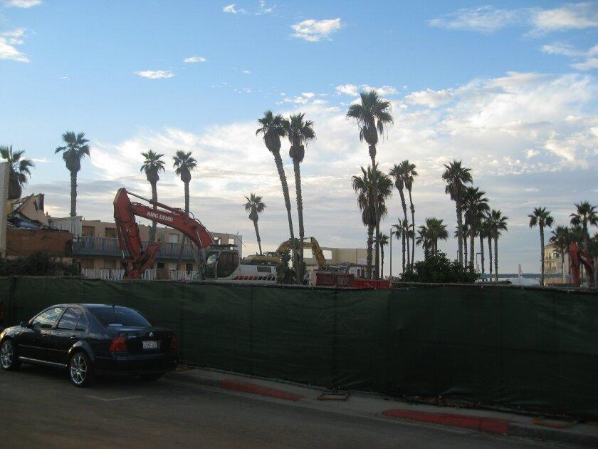 Demolition underway at the Seacoast Inn