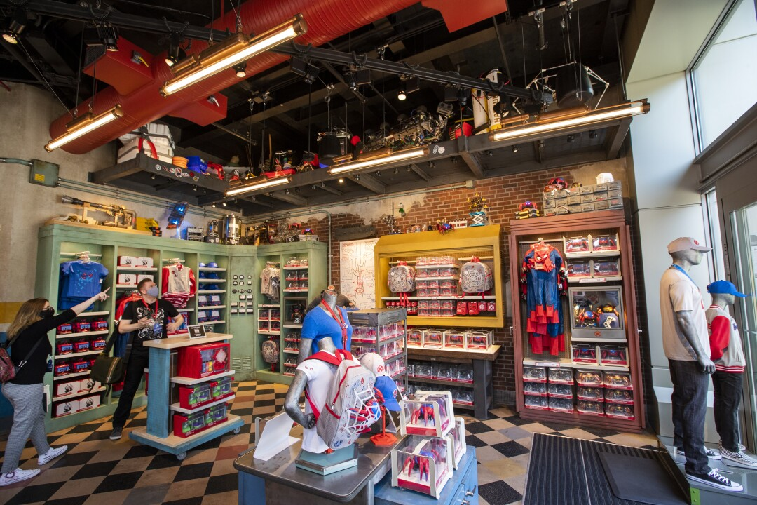Media preview of toys and gifts at Avengers Campus at California Adventure
