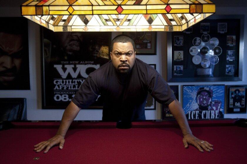 Ice Cube in his Sun Valley studio