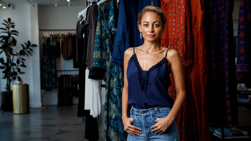 Nicole Richie's House of Harlow 1960 label has a new clothing collaboration with Revolve. The fashion designer, actress and television personality is seen at the Revolve showroom on Melrose Avenue on a recent summer day.