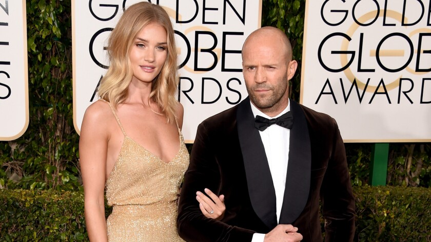 Actor Jason Statham and model Rosie Huntington-Whiteley had asked $19.95 million for the renovated beach house in the Malibu Colony enclave. The four-bedroom home sold for $18.5 million, records show.