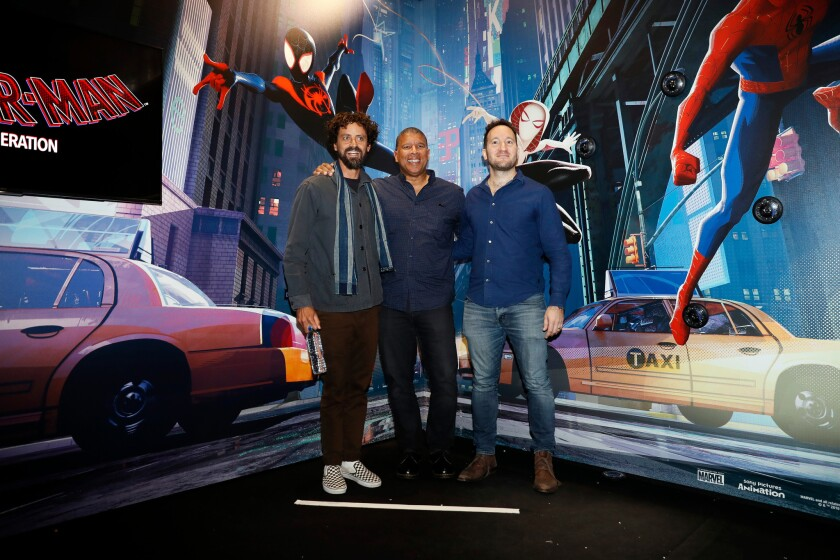 Spider-Man: Into the Spider-Verse Photocall in Paris, France - 27 Oct 2018
