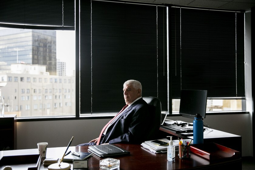 Hasan Ikhrata, executive director of the San Diego Association of Governments, in his office in San Diego.
