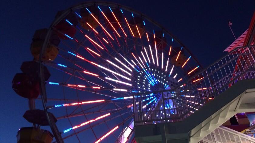 The Ferris wheel at the Santa Monica Pier