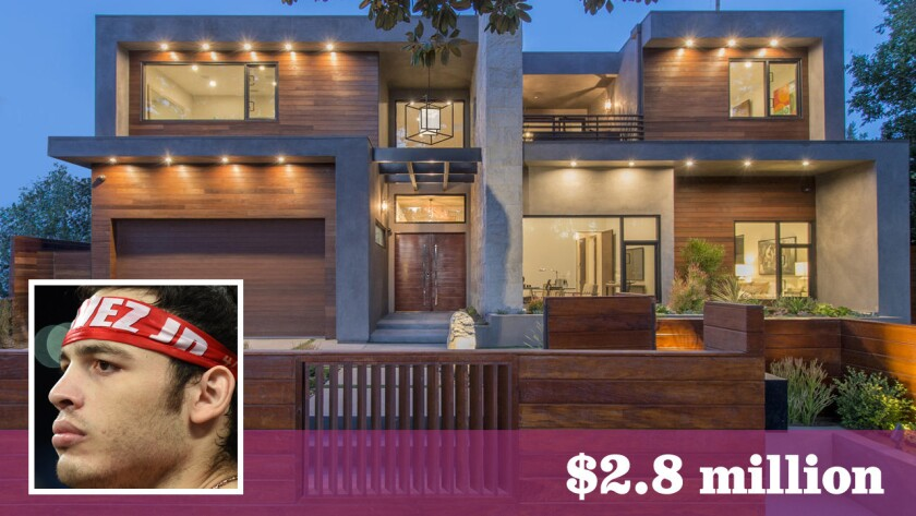 The former middleweight boxing champion paid $2.8 million for the 4,788-square-foot contemporary-style home in Studio City.