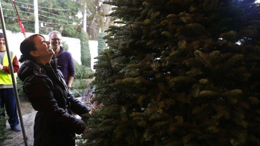LONG BEACH-CA-NOVEMBER 29, 2018: Sherri Marquez, 49, and her husband John, 53, shop for a Christmas