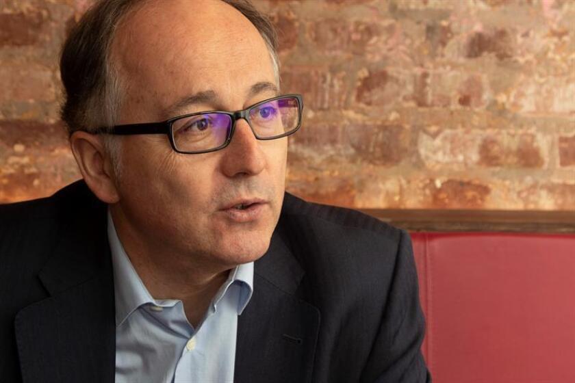 Luis Gallego, presidente de Iberia, habla este sábado 20 de octubre de 2018, durante una entrevista con Efe en Nueva York (Estados Unidos), sobre los planes futuros de la empresa. EFE