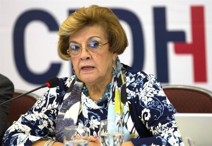 """La CIDH pidió hoy permiso al Gobierno guatemalteco para visitar el país de forma """"inmediata"""" con el fin de evaluar el papel de la Comisión Internacional Contra la Impunidad en Guatemala (Cicig) en la lucha contra la corrupción y ver cómo otras instancias pueden asumir sus funciones. La relatora para Guatemala de la CIDH, Esmeralda Arosemena. EFE/ARCHIVO"""