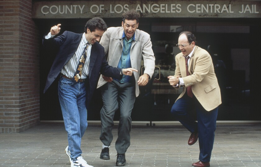 "Jerry Seinfeld, Michael Richards and Jason Alexander in ""Seinfeld"""