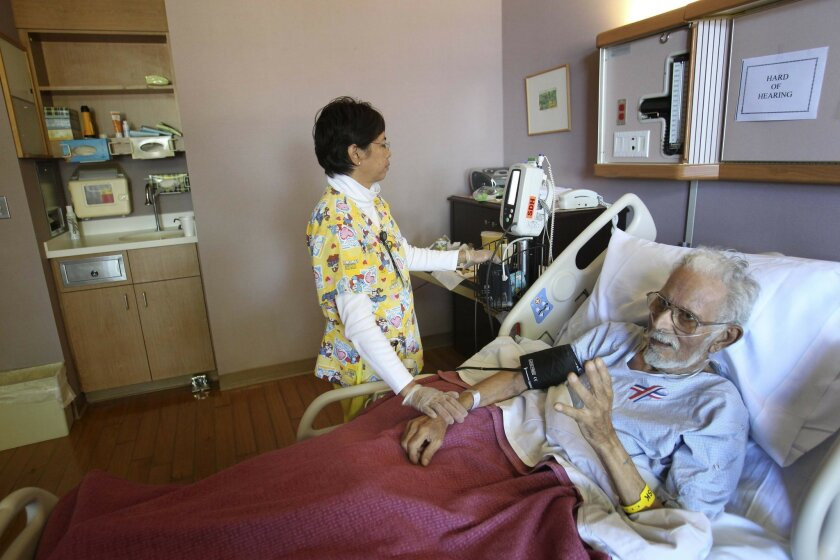 The San Diego Hospice in Hillcrest is in the middle of an Medicare audit that has put the focus on their financial situation. RN Cherry Miller checked the vital signs of patient Robert (no last name to be used) at the Hillcrest facility.  He was scheduled to go home the next day where he would cont